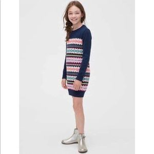 NWT GAP Fair Isle Wool Sweater Dress Small